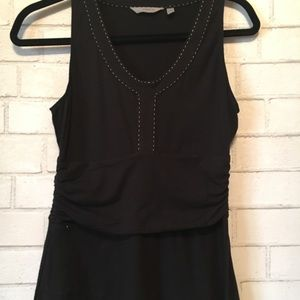 Athleta black V neck dress Small